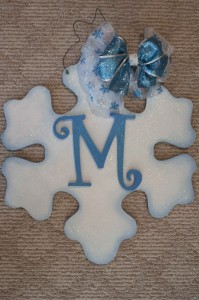 Snowflake with blue highlights