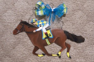 Horse - Blue and Yellow Silks