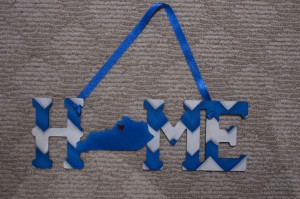 Home-KY - Blue and White Chevron