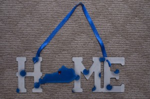 Home-KY - White with Blue Polka Dots
