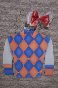 Silk - Blue and Peach Argyle