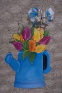 Watering Can - Tulips
