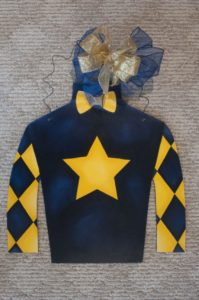 Silk - Blue with Yellow Star