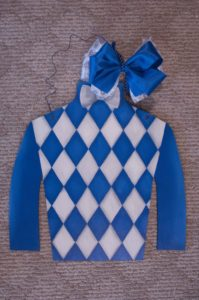 Silk - White and Blue Chevron