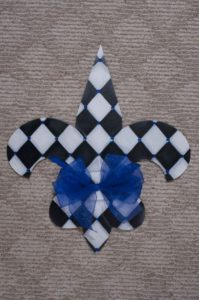 Fleur di Lis - Black and White Argyle