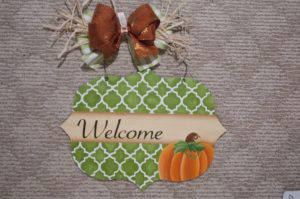 Welcome Sign - Pumpkin