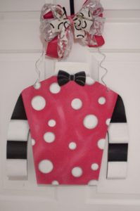 Silk - Pink w White Dots 2