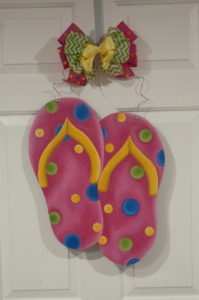 Flip Flops - Pink with Multi Color Polka Dots