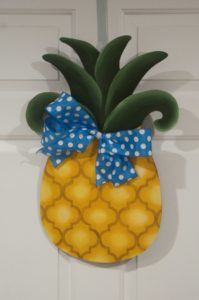 Pineapple - Yellow with Blue Ribbon